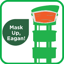 Mask Up, Eagan (mask on Sperry Tower image)
